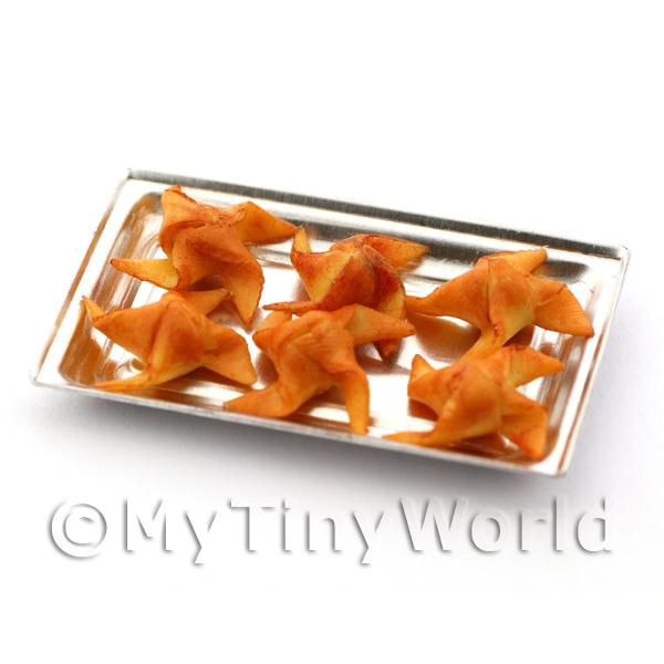 Miniature  Filo Parcels on a Metal Tray