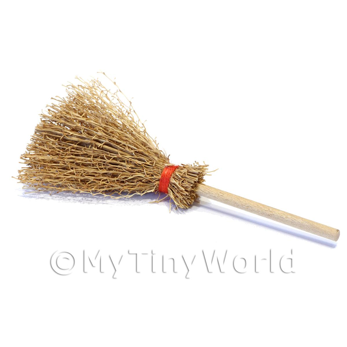 Quality Old Style Dolls House Miniature Wood Broom