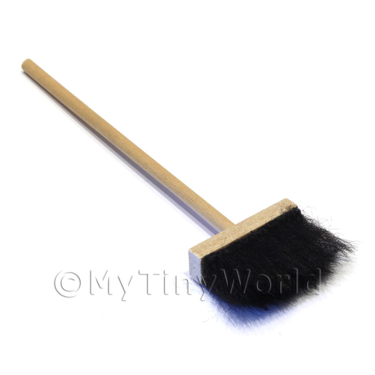 Dolls House Miniature Wood Broom With Soft Brush