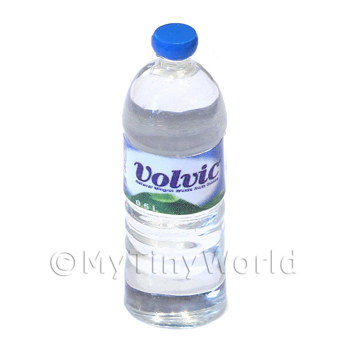 Dolls House Miniature Large Volvic Brand Round Water Bottle