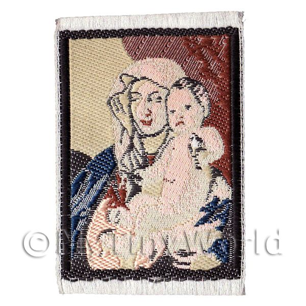 Dolls House Miniature  | Dolls House 17th Century Tapestry Woman And Child (17MINI02)