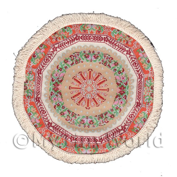 Dolls House Miniature  | Dolls House Medium 17th Century Round Carpet / Rug (17MRD03)