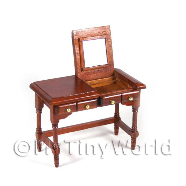 Dolls House Miniature Mahogany Table With Lifting Top