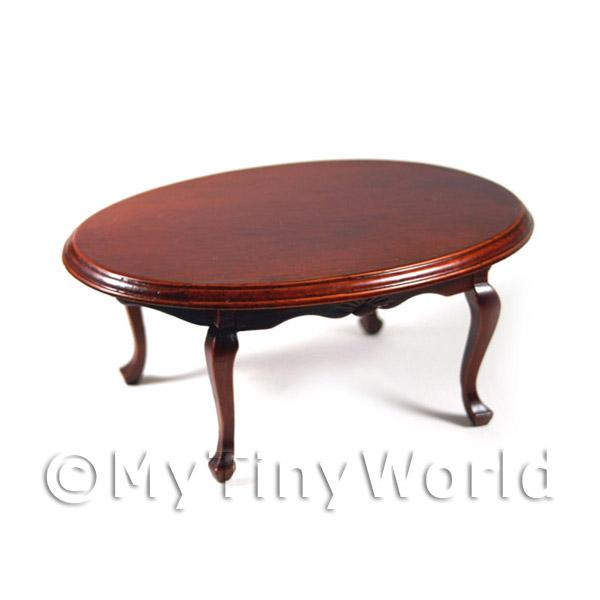 Dolls House Miniature  | Dolls House Miniature Mahogany Oval Table