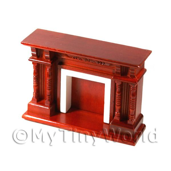 Dolls house Miniature Mahogany Fireplace