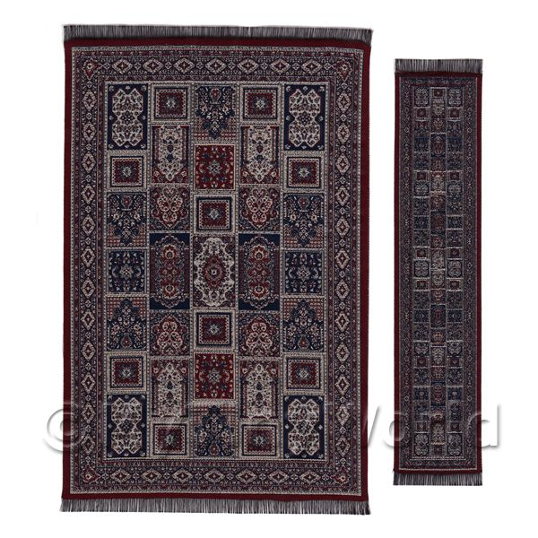 Dolls House Large Rectangular 18th Century Rug With Runner (18LRR01)