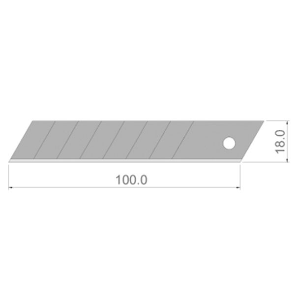1/12 Scale Dolls House Miniatures  | Pack of 10 x 18mm Carbon Steel Segmented Blades