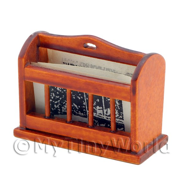 Dolls House Miniature  | Dolls House Miniature Wooden Newspaper Rack