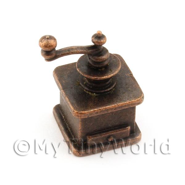 Dolls House Miniature Bronze Effect Metal Coffee Grinder