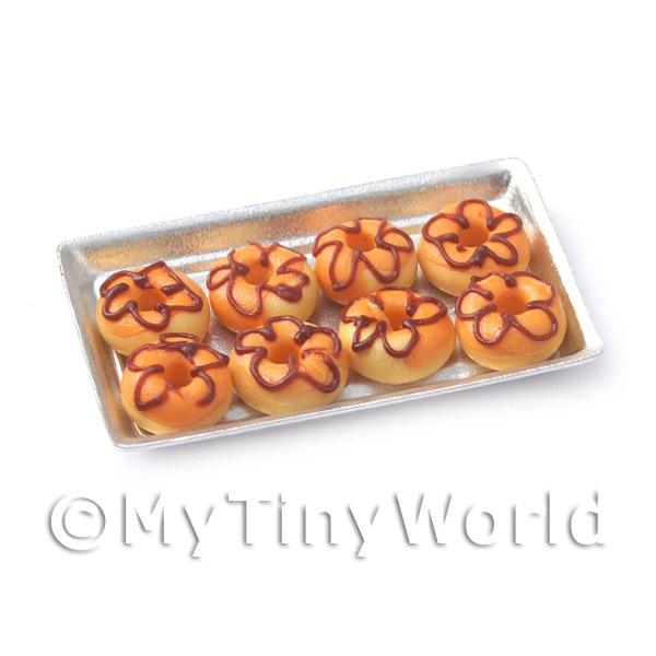 Dolls House Miniature  | Dolls House Miniature Orange Donuts On A Tray
