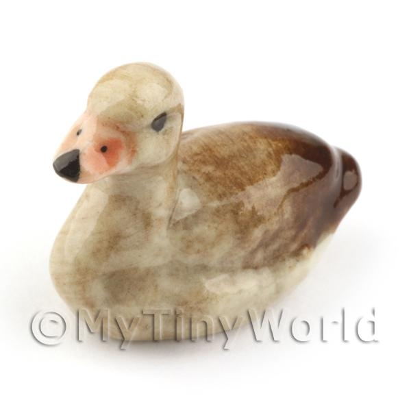 Dolls House Miniature Ceramic Sitting Duck Style 1