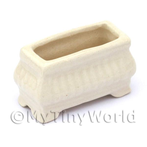 Dolls House Miniature  | Dolls House Miniature Garden White Flower Box / Planter