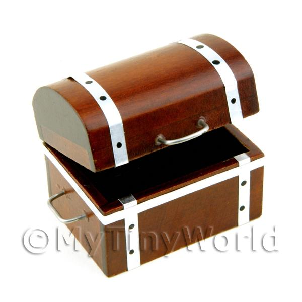 Dolls House Miniature Wooden Opening Treasure Chest