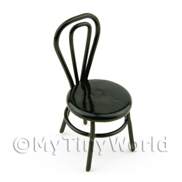 1/12 Scale Dolls House Miniatures  | Dolls House Miniature Black Wire Chair