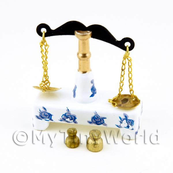 Dolls House Miniature Metal And Wood Victorian Scales