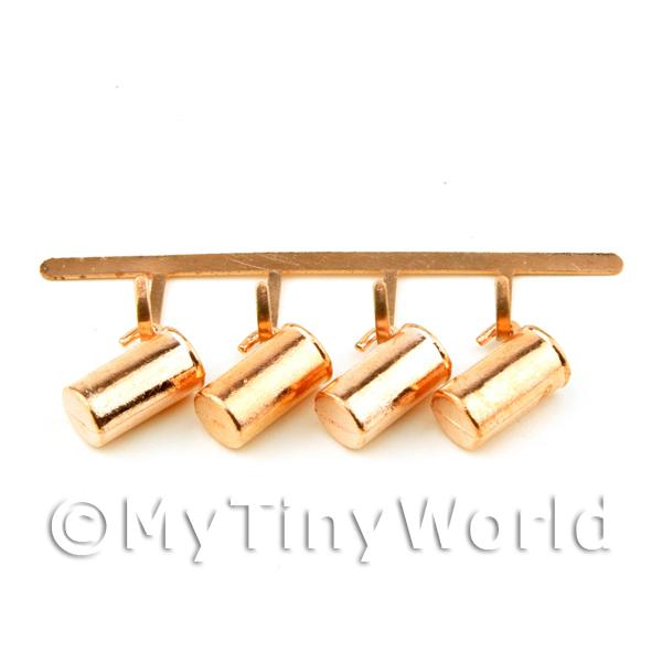 Dolls House Miniature  | Dolls House Miniature Set of Hanging Brass Style Metal Cups