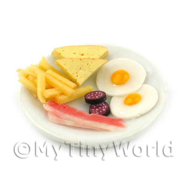 Dolls House Miniature English Style Breakfast