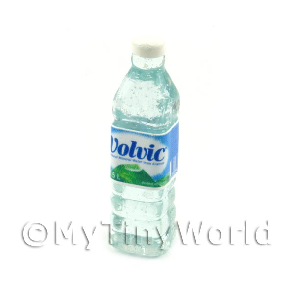 Dolls House Miniature Large Volvic Brand Water Bottle