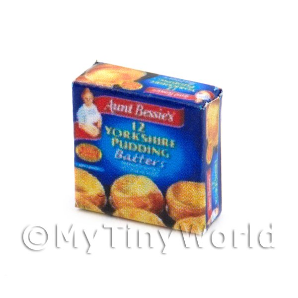 Dolls House Miniature Box of Aunt Bessies Yorkshire Puddings