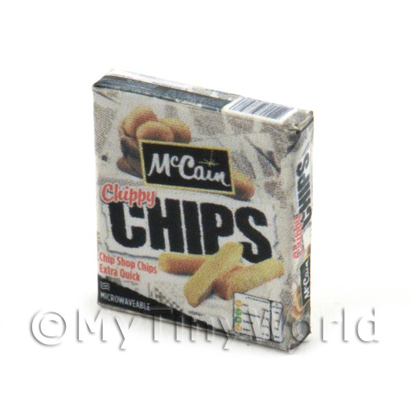 Dolls House Miniature Box of McCains Micro Chips