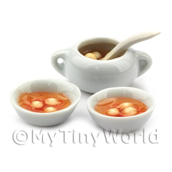 Dolls House Miniature  | Dolls House Miniature Chicken Broth and Matzo Dumplings