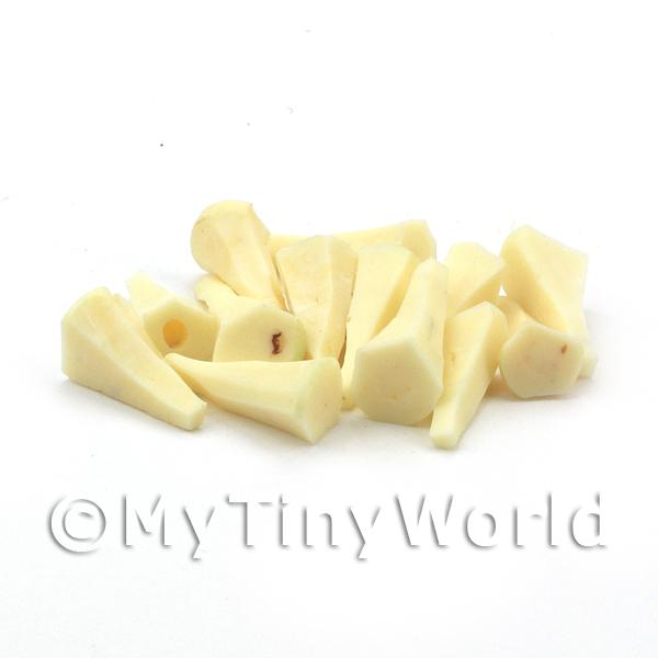 10 Dolls House Miniature Handmade Parsnips Peeled