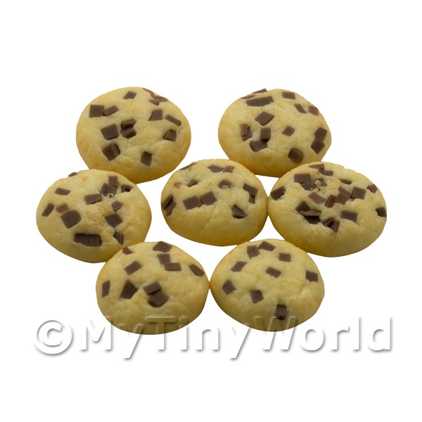 Dolls House Miniature Chocolate Chip Cookie