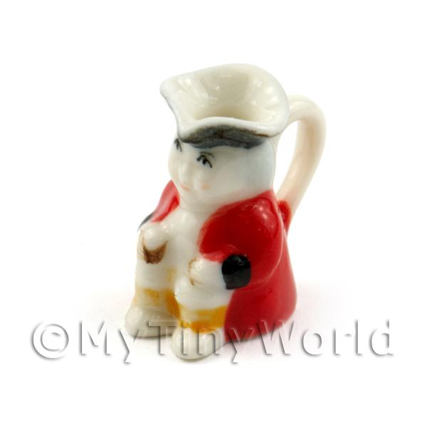 Dolls House Miniature Handmade Red Ceramic Toby Jug