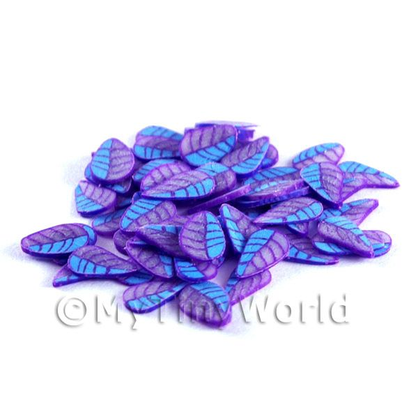 50 Blue and Purple Leaf Cane Slices (NS57)