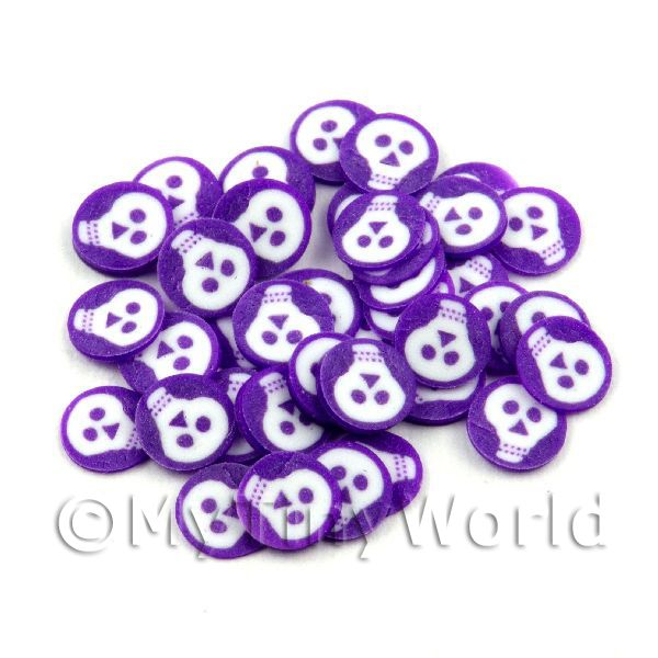 50 Purple and White Halloween Cane Slices (NS40)