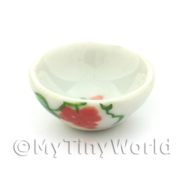Dolls House Miniature Grape Design 16mm Ceramic Bowl