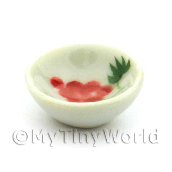 Dolls House Miniature Grape Design 15mm Ceramic Bowl
