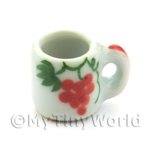Dolls House Miniature Grape Design 13mm Ceramic Mug