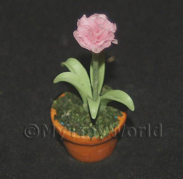 Dolls House Miniature  | Dolls House Miniature Potted Pink Carnation