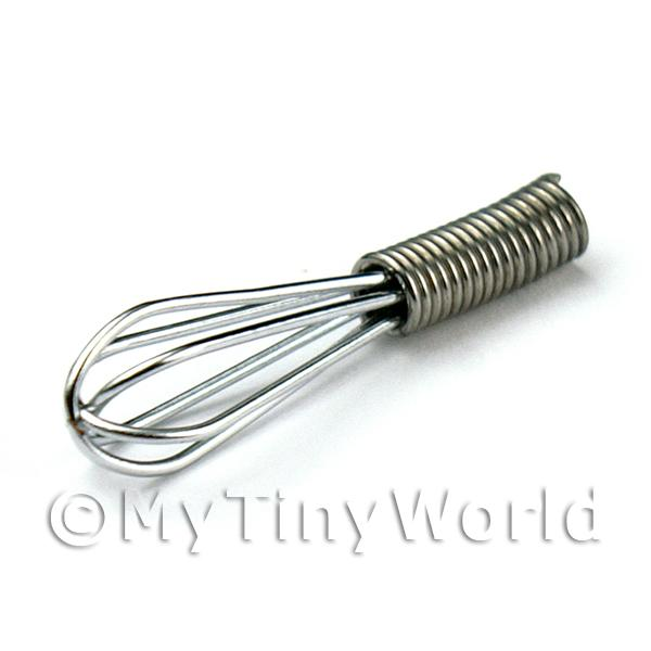 Dolls House Miniature Metal Whisk