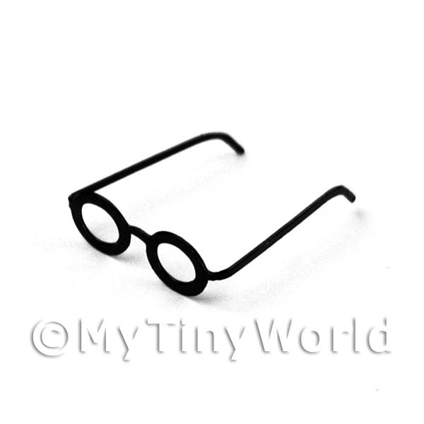 Dolls House Miniature  | Dolls House Miniature Pair of Black Glasses in the Wizardy Style