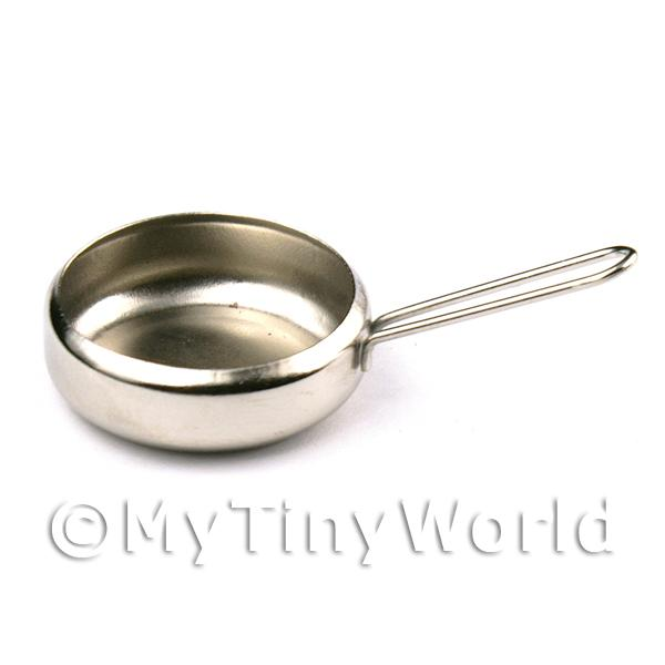 Dolls House Miniature Silver Finish Metal Camping Pan
