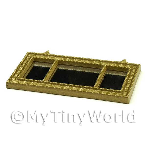 Dolls House Miniature Large Gold Mirror