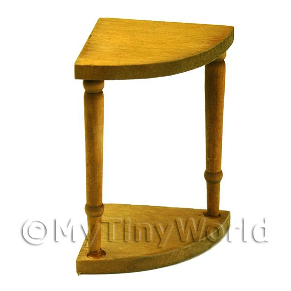 Dolls House Miniature Wooden Corner Table