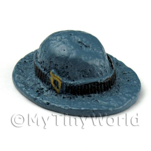 Dolls House Miniature Resin Womens Blue And Black Hat