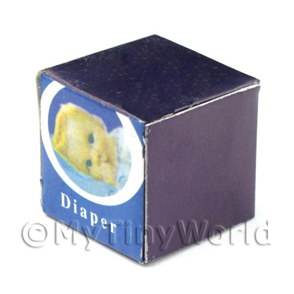 Dolls House Miniature Cardboard Nappy / Diaper Box