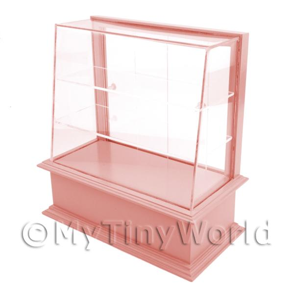 Miniature Small Dark Pink Wood Cake / Food Display Counter
