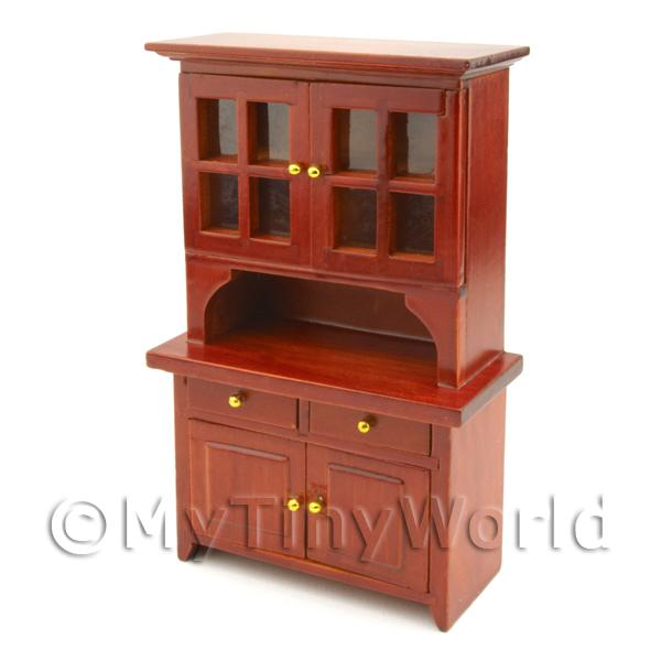Dolls House Miniature Mahogany Coloured Kitchen Cupboard