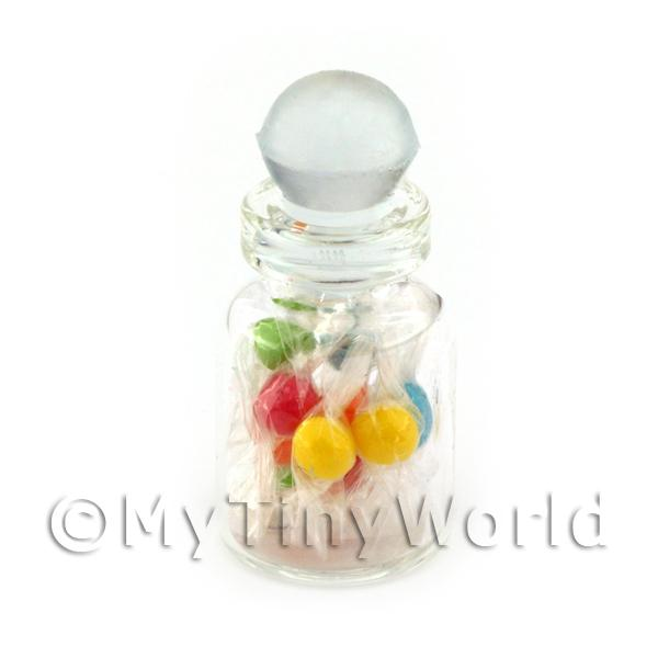 Dolls House Miniature  | Miniature Handmade Mixed Boiled Sweets In A Glass Jar