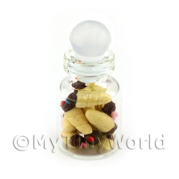 Dolls House Miniature  | Dolls House Miniature Chocolate Tipped Cones In A Glass Jar
