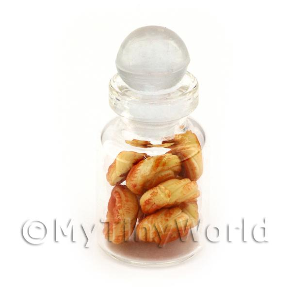 Dolls House Miniature Handmade  Sweet Pastries In A Glass Jar