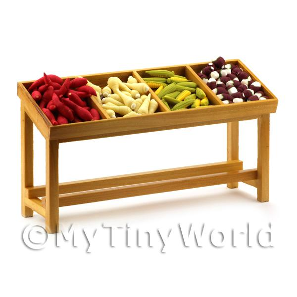 Dolls House Miniature Fully Stocked Root Vegetable Stall