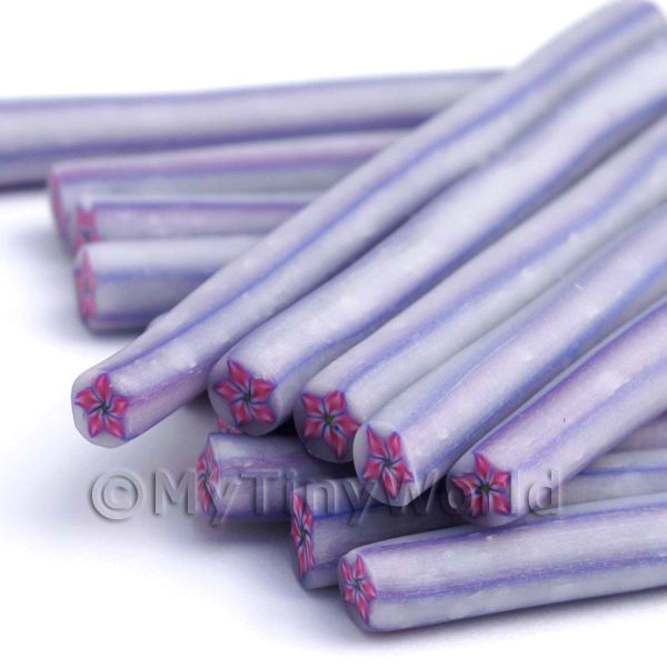 One Handmade Purple Flower Cane (NC5)