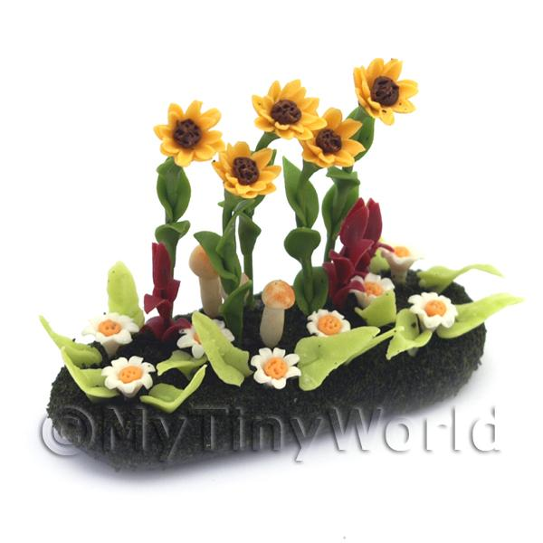 Dolls House Miniature  | Dolls House Miniature Large DIY Flower Bed (DIY4)