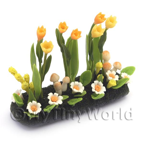 Dolls House Miniature Large DIY Flower Bed (DIY6)